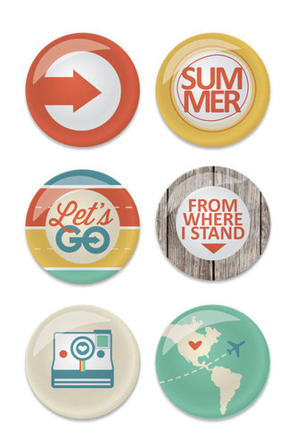 Chic Tags - Lets Go Collection - Flair Buttons