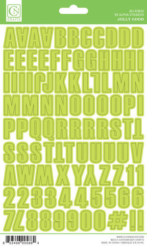 Chickaniddy Crafts - Jolly Good Collection - Christmas - Cardstock Stickers - Alphabet