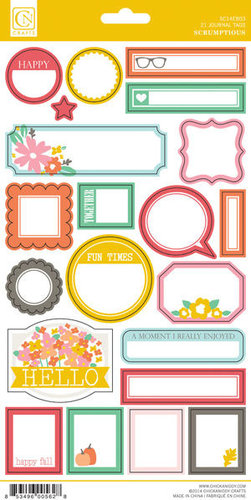 Chickaniddy Crafts - Scrumptious Collection - Cardstock Stickers - Journal Tags