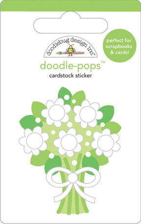 Doodlebug Design - Doodle-Pops - 3 Dimensional Cardstock Stickers - Bridal Bouquet