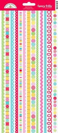 Doodlebug Design - Nifty Notions Collection - Cardstock Stickers - Fancy Frills