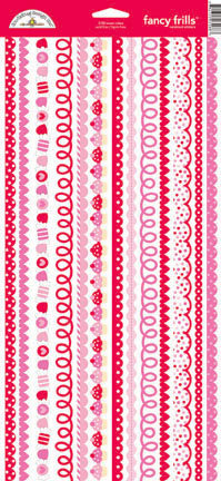 Doodlebug Design - Sweet Cakes Collection - Sugar Coated Cardstock Stickers - Fancy Frills