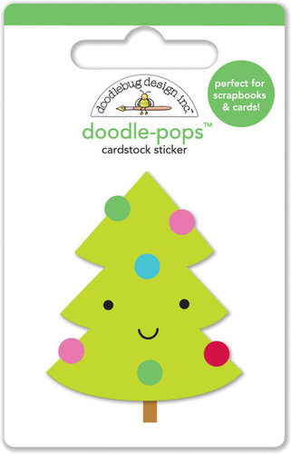 Doodlebug Design - Santa Express Collection - Christmas - Doodle-Pops - 3 Dimensional Cardstock Stickers - Merry Tree