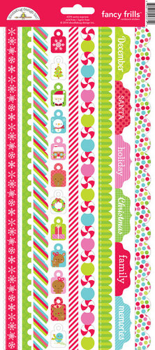 Doodlebug Design - Santa Express Collection - Christmas - Cardstock Stickers - Fancy Frills