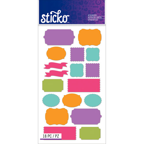 EK Success - Sticko - Stickers - Labels - Bright Solid