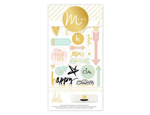 Heidi Swapp - MINC Collection - Cardstock Stickers - Icons, COMING SOON