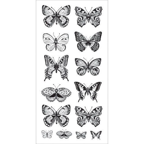Kaisercraft - Clear Stickers - Butterflies