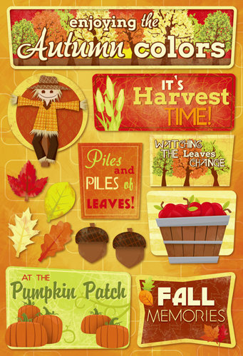 Karen Foster Design - Autumn and Thanksgiving Collection - Cardstock Stickers - Autumn Colors