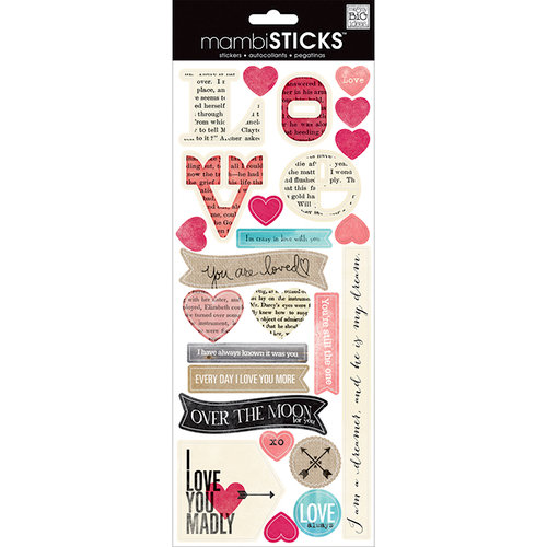 Me And My Big Ideas Mambi Sticks Cardstock Stickers Love