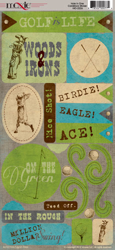 Moxxie - Hole in One Collection - Cardstock Stickers - Elements