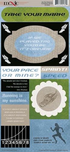 Go the Distance Collection - Cardstock Stickers - Elements by Moxxie