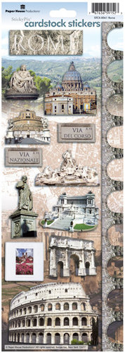 Paper House Productions - Rome Collection - Cardstock Stickers - Rome