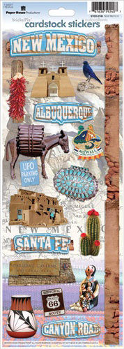 Paper House Productions New Mexico Collection Cardstock Stickers New Mexico