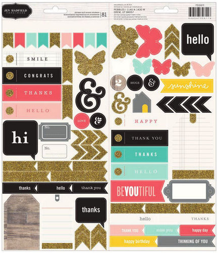 Pebbles - Homemade Collection - Cardstock Stickers
