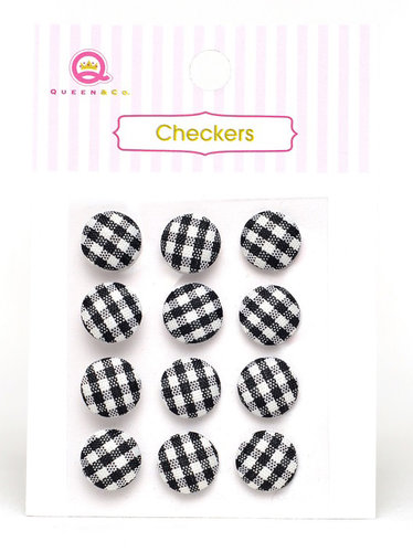 Queen and Company - Checkers - Black
