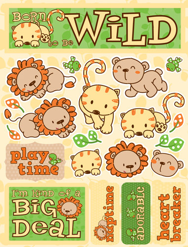 Reminisce Signature Series 3 Dimensional Die Cut Stickers Born to be Wild