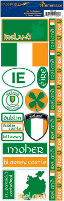 Reminisce - Passports Collection - Cardstock Stickers - Ireland