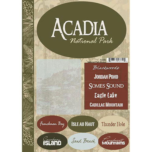Scrapbook Customs United States Maine National Park Cardstock Stickers Acadia