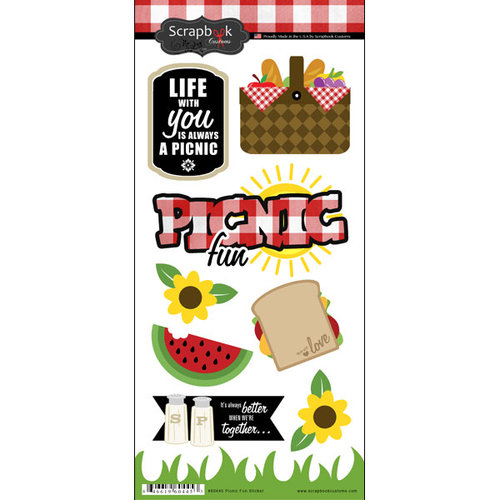 Scrapbook Customs - Cardstock Stickers - Picnic Fun