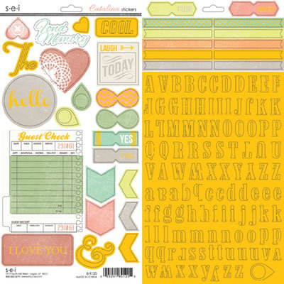 SEI - Catalina Collection - Cardstock Stickers with Foil Accents - Alphabet