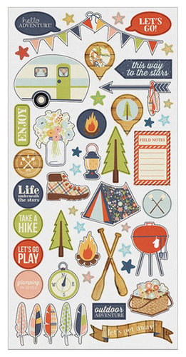 Simple Stories - Under the Stars Collection - Simple Sets - Cardstock Stickers - Fundamentals