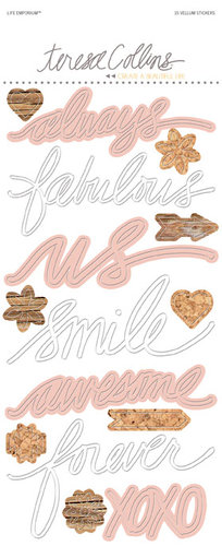 Teresa Collins Designs - Life Emporium Collection - Vellum Stickers - Words