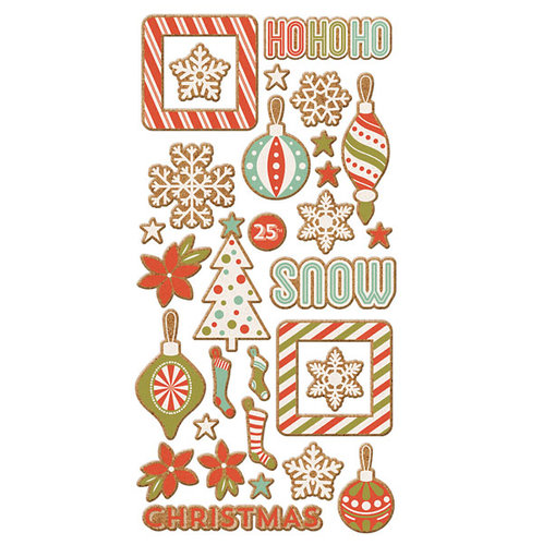 We R Memory Keepers - Silver and Gold Collection - Christmas - Cork Stickers